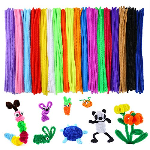 Caydo 700 Pieces 20 Colors Pipe Cleaners for Valentine DIY Art Craft Supplies (6 mm x 12 Inch)