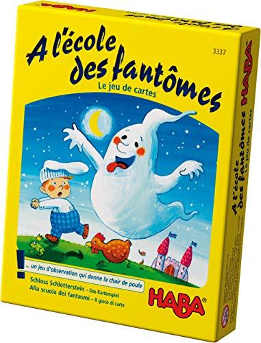 HABA- A l'école des fantômes – Le Jeu de Cartes, 3337, Coloré