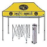 Eurmax Premium 10x15 Ez Pop up Canopy Sport Tent Imprinted Fair Vendor Tent with Your Logo Bonus Roller Bag