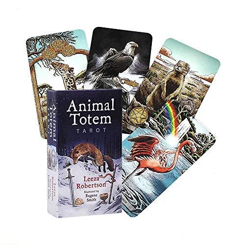 Tarot Animal Totem para Amigos Que juegan Tarjetas de Regalo del Juego de Mesa de la Fiesta Familiar,Only Tarot,Tarot Cards