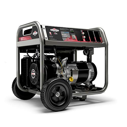 Briggs & Stratton S5000 5000W Portable Generator with CO Guard and (4) 120V (1) 120/240V, 30A outlets, Powered by Briggs & Stratton, 030737