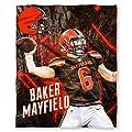 """Northwest Baker Mayfield Cleveland Browns NFL Silk Touch 50"""" x 60"""" Throw Blanket"""
