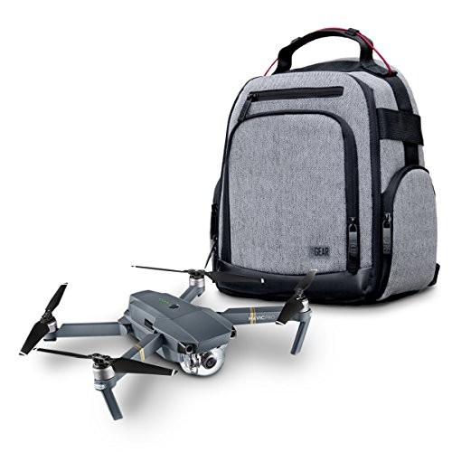 USA Gear Drone Backpack - Drone Case Compatible with DJI Mavic Pro, Spark Mini, Ryze Tello, Yuneec Breeze and More - Customizable Interior, Weather Resistant, Storage for Batteries and Accessories