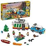 LEGO 31108 Creator Vacaciones Familiares en Caravana, Juguete de Construcción