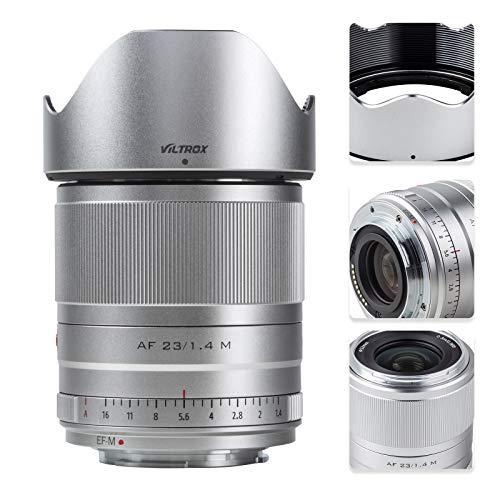 VILTROX 23mm f/1.4 Auto Focus M-Mount Lens Compatible with Canon,Wide Angle Large Aperture APS-C Prime Lens Compatible for Canon EOS M Cameras M6Ⅱ M50 M5 M3 M100 M10 (23mm f1.4)
