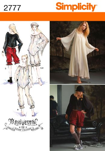 Simplicity R514–16–18–20–22Schnittmuster 2777Misses Costumes
