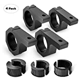 Nilight 90021D 4-Pack (Standard) 4PCS Mounting Bracket Kit LED Off-Road Light Horizontal Bar Tube Clamp Roof Roll Cage Holder,2 Years Warranty