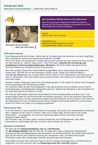 Gelungene Kommunikation... damit die Liebe bleibt. DVD 3: Eine interaktive DVD für Paare im (Un-)Ruhestand