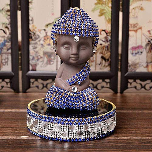 RYOG Statuen Dekoartikel Home Decor Ornament Figur Keramik Buddha Statuen & Skulpturen Mit Kristall Buddha Statue Skulpturen Auto Parfüm Ornament