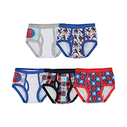 Marvel Little Boys' Spiderman 5 Pack Brief, Assorted, 4