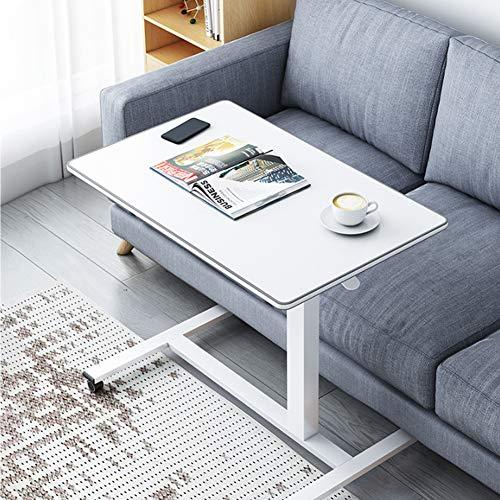 Mesa para computadora portátil para sofá/Cama, Escritorio para computadora de Altura Ajustable, Mesa Auxiliar, Mesa de Cama, Mesa para sofá, Soporte móvil con 4 Ruedas
