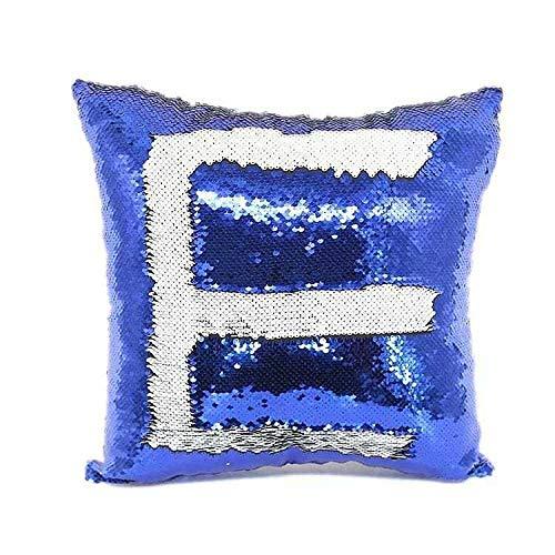 QMZ Fodera per cuscino a sirena Paillettes a doppio colore Stampa fronte-retro Fodera per cuscino a trasferimento termico magico con paillettes