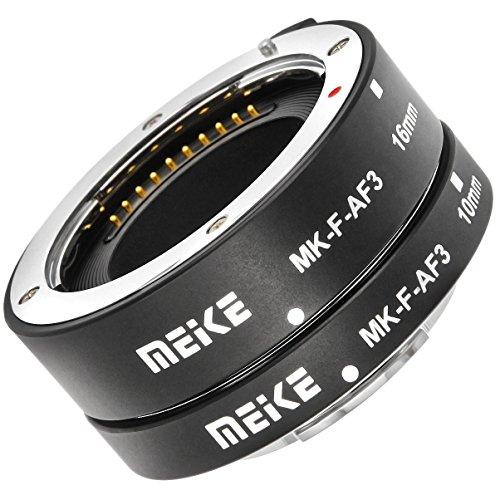 Impulsfoto Automatik Zwischenringe 2-teilig 10mm & 16mm Fuer Makrofotographie passend zu Fujifilm Micro DSLR **Metall Kontakt**