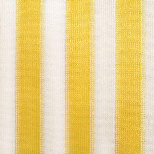 vidaXL Rolgordijn voor Buiten 240x230 cm Geel Wit Streep Tuingordijn Tuin Rol