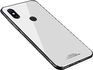 evershare Xiaomi Mi Mix3 ケース 背面強化ガラスケース 9H硬度 Qi充電対応 ストラップホール付き レンズ保護 TPUバンパー 薄型 耐衝撃 傷防止 指紋防止 シンプル Xiaomi Mi Mix3 ケース