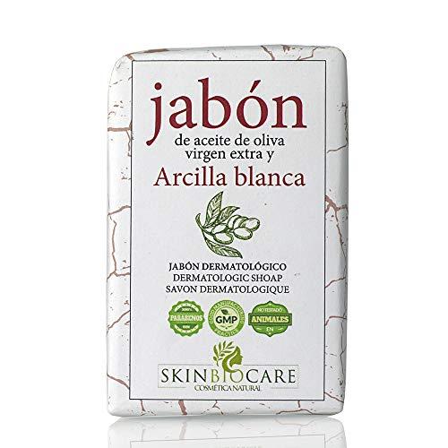 Jabón facial Arcilla Blanca y AOVE-Beneficios Anti acné, desinflamante y regeneradora celular - Elaboración artesanal y ecológica- 100 gramos SkinBioCare