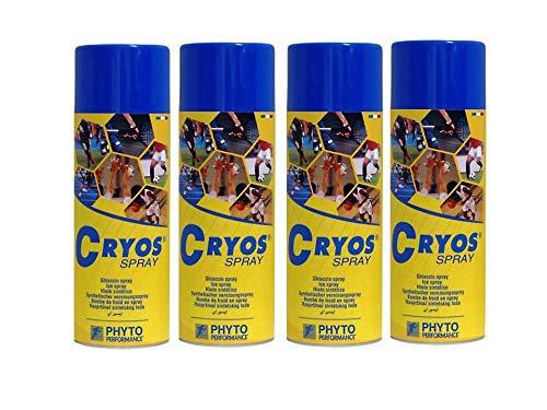 Cryos spray frio 400 mL pack de 4 unidades. TOTAL 1600 ML
