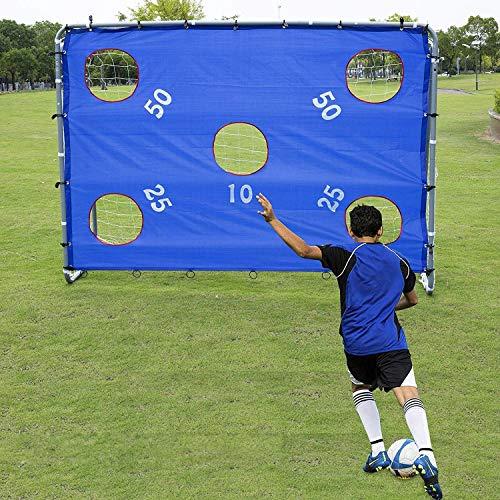 Pinty Fußballtor Fußball Tor Trainer mit Torwand Soccer Goal 2-in-1 Garten mit Nylon-Netz Fußballtore aus Pulverbeschichtetem Stahl Abnehmbarem Zielnetz 171cm x 244cm x 85cm