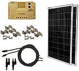 WindyNation 200 Watt (2pcs 100 Watt) Solar Panel Complete Off-Grid RV...
