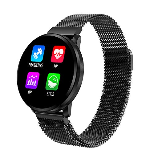 Smart Watch , Health & Fitness Tracker Smartwatch Heart Rate Monitor Blood Pressure Activity Watch ,Sleep Monitor Pedometer Calls SMS Notification,Calorie Counter Stop Watch,Great Gift