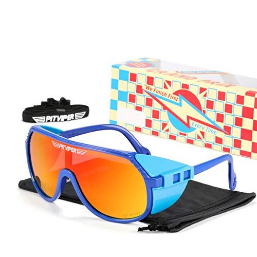 HUALUWANG Pit Viper Baseball Corriendo Pesca, Golf Driving Gafas de Sol, Gafas se Montar Polarizadas UV400 Masculinas y Femeninas (Color : C)