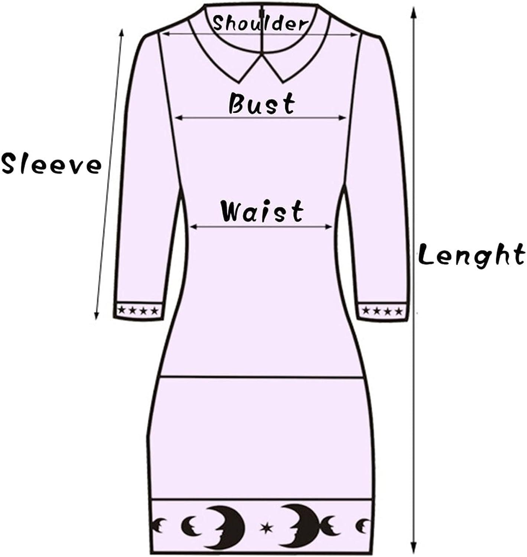 PLENTOP Tunic Tops for Women Halloween Color Block Long Sleeve Crew-Neck Flattering Asymmetrical Hemline Long Shirt
