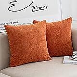 Anickal Burnt Orange Pillow Covers 20x20 Inch Set of 2...