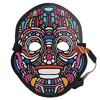 コールドライト光源マスクコスプレマスク、コスチュームマスクコスプレグローイングマスク、フェスティバルハロウィン用