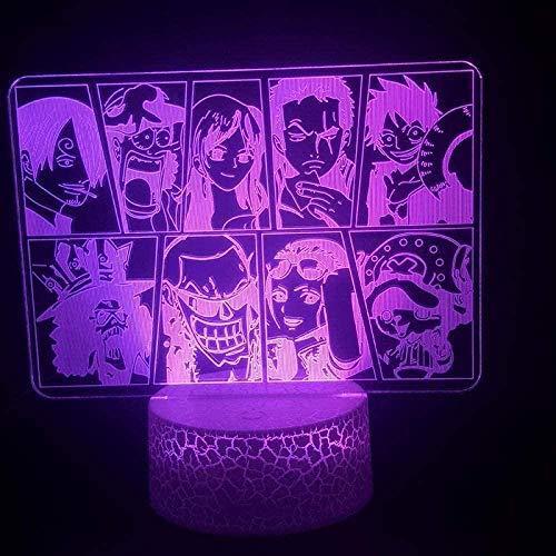 Lámpara de ilusión 3D 3D, lámpara de noche LED, bola de dragón, tereo Light Creat, lámpara de escritorio, 7 colores cambiantes, luz ambiente ambiente para dormitorio como regalo infantil -N13-N6
