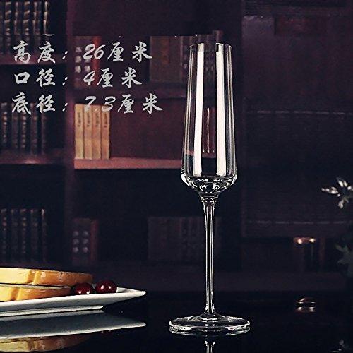 JARONG Tasse À Vin Rouge Cristal De Verre sans Plomb Coupe De Champagne Pied Haut Tasse,Xie