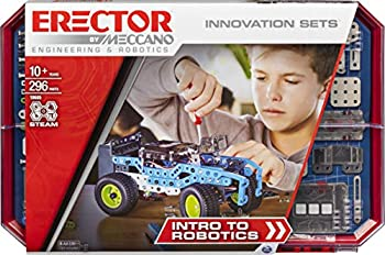 Meccano Erector Intro to Robotics Innovation Set S.T.E.A.M Building Kit with Sensors and Real Motor