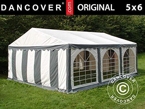 Dancover Partytent Original 5x6m PVC, Grijs/Wit