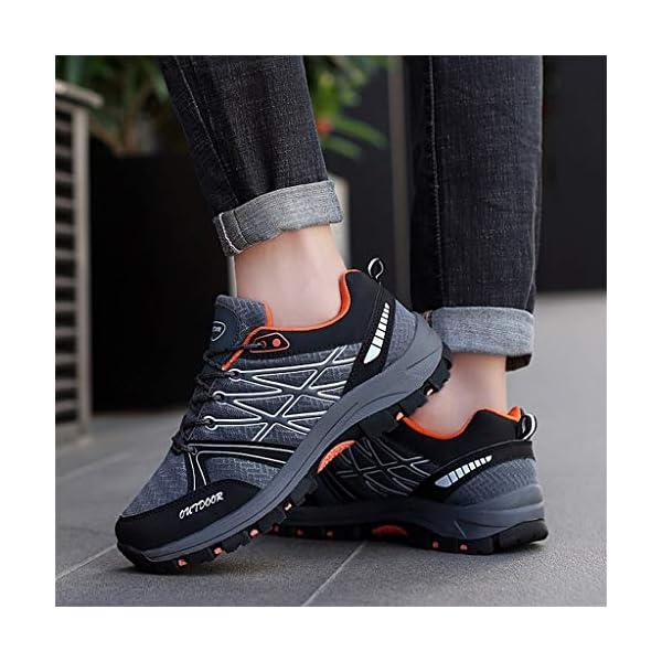 Zapatillas de Seguridad con Puntera de Acero Hombre Mujer al aire libre Zapatos para caminar antideslizantes Zapatos para correr Transpirables Zapatillas de Senderismo Deportivas Antideslizante Unisex