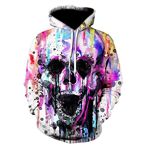 Preisvergleich Produktbild Sweatshirt Hoodies Männer 3D gedruckt Schädel für Männer Herbst Freizeit Mode Hoodie S-6XL XXXL