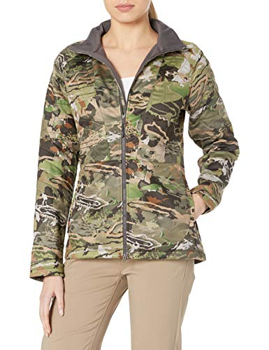 Under Armour Women's Core Wool Jacket,Ridge Reaper Camo Fo (943)/Metallic Beige, Small