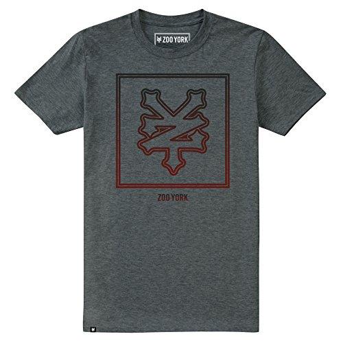 Zoo York Keyline KeylineT-Shirt, Grigio Erica Scura, XL Uomo