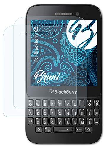 Bruni Schutzfolie kompatibel mit BlackBerry Q5 Folie, glasklare Bildschirmschutzfolie (2X)