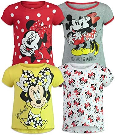 Disney Minnie Mouse Toddler Girls 4 Pack Short Sleeve T Shirts 3T product image