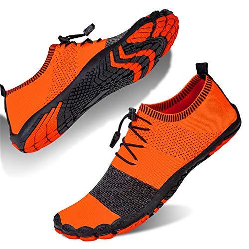 Damen Wasserschuhe Surfschuhe Barfu?Schuhe Outdoor Fitnessschuhe Traillaufschuhe Schwimmschuh(wg.orange,39 EU)