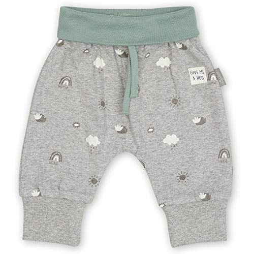 Sigikid Unisex Baby Classic Hose aus Bio-Baumwolle für Kinder, Grau/Himmel, 56