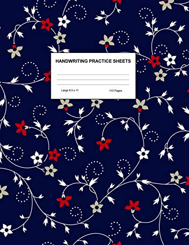 Handwriting Practice Sheets: Cute Blank Lined Paper Notebook for Writing Exercise and Cursive Worksheets - Perfect Workbook for Preschool, ... 3rd and 4th Grade Kids - Product Code A4 2298