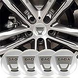 copricerchio 4 pz 56mm Centro ruota tappi cappuccio cappuccio tronco guarnitori autoadesivo logo alluminio per Dacia Emblem Badge Wheel Center Hub Cap Coperchio Adesivo per DACIA Duster Logan Sandero