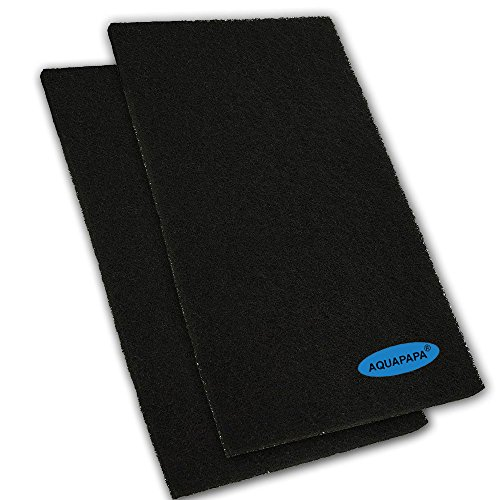 Aquapapa Pack of 2 Activated Carbon Media Pad 17.5'x 11.8' Cut-to-fit Sponge Filter Foam Sheet for Aquarium Fish Tank Pond Reef Canister (2-Pack)