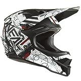 O'NEAL   Casco de Motocross MX Enduro   Carcasa de ABS, Norma de Seguridad ECE 22.05, Ventilación para una óptima refrigeración y ventilación   Casco 3SRS Scarz V.22 Adulto   Negro Blanco Rojo   L