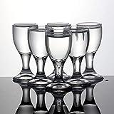 GXMWD 6 stücke Bleifreie Schwalbe Glas Whisky Schnapsgläser Spirituosen Gläser Wodka Für Getränke 20 mlBullet BarCup, 20 ml 0,7 Unze