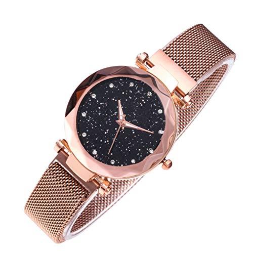 shunbang yuan El Regalo de Mujeres Estrella Sky Watch Malla Banda de Cuarzo analógico Reloj de Pulsera Pulsera de la Novia de Vacaciones