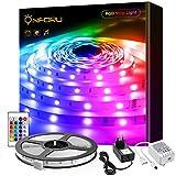 Onforu 15M Tira LED RGB con Control Remoto y Caja de Control, Multicolor Tira de Luces 450 LEDs 5050, Adaptador de Alimentación 24V, LED Strip para Habitación, Decoración, Fiesta, Navidad, Compleaños