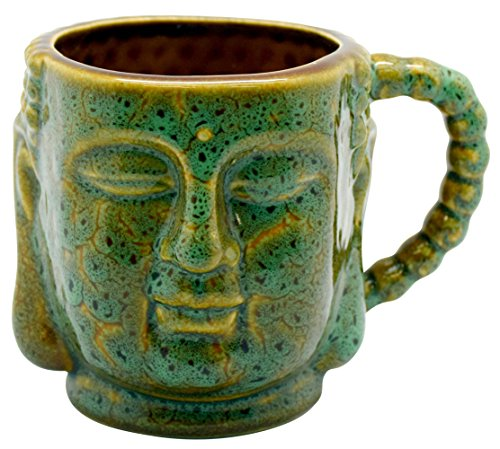 Buddha Ceramic Mug - 12oz - 2pc Set