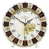 SXZHDZ Orologio da Tavolo Orologio da caminetto Muto Nonno Antico Orologio Moderno Salotto Creativo Quarzo Orologio Tavolo Decorazione Ornamenti 30 x 30cm
