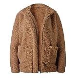 LANUVER ボアブルゾン レディース ボアジャケット ミリタリー フリース コート ボア ブルゾン ジャケット 秋冬 GU風 アウター ゆったり もこもこ ふあふあ 防寒 暖かい コーデ ファッション (キャメル,S)